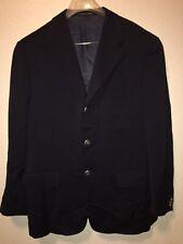 Corneliani Mens Blazers Jacket Black 3 Button Size 50 Eu 40 Us Super 110'S