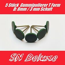 5 Stück T- förmig Gummi Polierpunkte Polierer  25mm für Dremel Proxxon Multitool