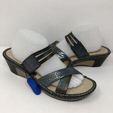Alegria Leila Braidy Comfort Wedge Sandals Womens Size EU 41 US 10.5-11 Colorful