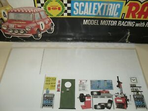 scalextric vintage pitbox card #3