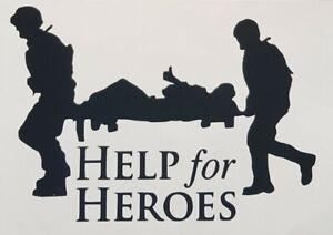 HELP FOR HEROES  vinyl decal sticker car wall window sticker