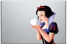 Snow White Holding Apple 15 Inch MacBook Pro / Air Vinyl Decal Sticker