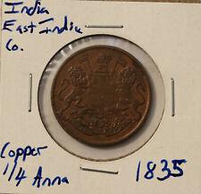 1835 India British 1/4 Anna - KM 446.1 - copper coin - East India Co