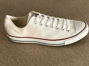 Converse All Star ox Canvas MENS Trainers Shoes White Size 8.5 UK / 42 EU