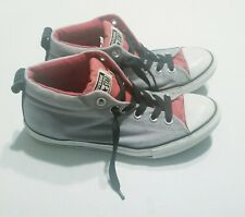 Converse Mid Top Grey/Red Big Boy Size 6