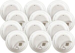 FIRST ALERT BRK 9120B-12 Hardwired Smoke Detector with Backup Battery, 12-Pack