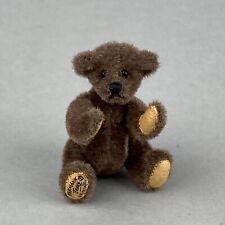 Tiny Hermann Teddy Original ® Miniature 5cm Brown Plush Bear
