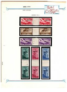 Trieste AMG-FTT Allied Military Government Gutter Pairs - Airmails, Holy Year