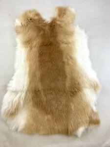 Rabbit Skin Pelt - Genuine Leather Fur -Tan Color