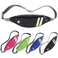Sports Running Waist Bag Belt Pack Reflective Strip Mobile Phone Holder #JT1