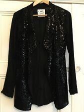 One By One Teaspoon Ladies Small (8) Black Jacket Sequin Evening Formal Party