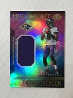 LAMAR JACKSON 2020 Illusions Highlight HOLO SP GU JERSEY PATCH! CHECK MY ITEMS!