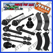 Steering Tie Rods For 4WD Chevy Silverado HD GMC Sierra HD w/ Bundle Brake Pads