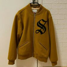 Supreme Old English Varsity Jacket Gold Size Large Used