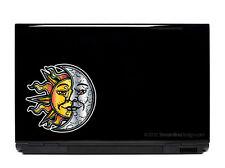 Sun and Moon Vinyl Laptop or Automotive Art FREE SHIPPING, sun sticker moon