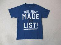 WWE Chris Jericho Shirt Adult Medium Blue White WWF Wrestler Wrestling Mens