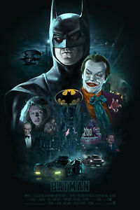 1989 Batman Movie Poster Print > Michael Keaton > DC Comics > Gotham City 🦇🍿