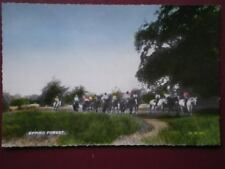 POSTCARD ESSEX HORSE RIDING THRO EPPING FOREST