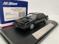 1/43 HI STORY HS064BK HONDA PRELUDE 2.0Si COUPE (1985). JDM model car