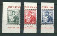 Bizone - lose Marken aus Hannover-Exportmesse Block 1  ** postfrisch
