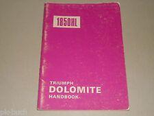 Instrucciones Servicio Manual Owner's Manual Triumph Dolomite