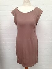 Womens New Look Mink Dress With Shoulder Pads ~ Size 16 ~ Brand New With Tags