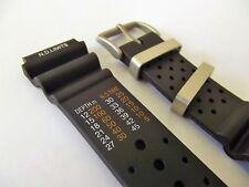 cinturino x citizen N.D. limits pvc di qualità misure 20 22 mm acciaio satinato