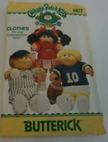 """BUTTERICK 6827 Cabbage Patch Kids 16"""" DOLL CLOTHES Sewing Pattern MInt UNCUT!"""