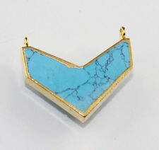 Plated Connector Making Jewelry D-2548 Super Sale Lovely Sleeping Turquoise Gold