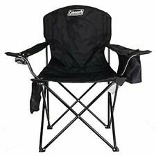 Coleman Camping Portable Quad Chair WITH COOLER Black Compact Folding Fishing