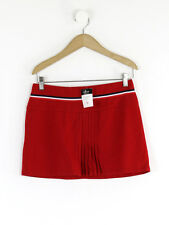 Topshop Womens Red Tennis Wool Blend Skirt Size 10