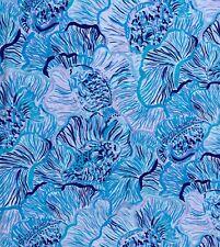 "Lilly Pulitzer Pima Cotton Print Bermuda Blue Fishful Thinking 1 yard (36""x 58"")"