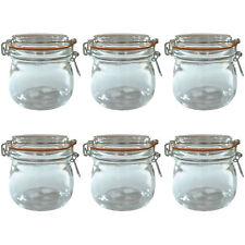 6x 500 ml Pots de Verre Préserver Rangement Pince Couvercle hermétique joint Kilner Weck Style
