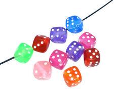 ❤ 50 x Acrylic Bubblegum DICE CUBE Spacer Beads MIXED 8mm Jewellery Making UK ❤