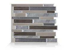 Smart Tiles SM1048-1 SELF-ADHESIVE WALL TILES 1/SHEET MILANO LINO DUAL FINISH