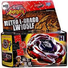 Meteo L-Drago Metal Masters Beyblade Set NIP w/ BeyLauncher L-R STRING LAUNCHER!