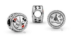 Pandora 2021 Disneyland Paris Mickey & Minnie Eiffel Tower Silver Charm Gift