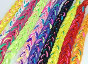Pack of 10 Hand Woven Colourful Handmade Bracelet Ethnic String Anklet Cuff UK