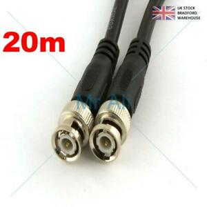 20m BNC Patch Leads High Quality RG59 for CCTV Cameras to DVR Video Cable