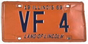 Illinois 1969 Vintage License Plate Classic Car Tag Low Number Man Cave Pub Gift