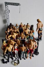 WWE RAW WRESTLING RING 2013 MATTEL + 27 WRESTLERS REFEREE BUNDLE RAY MYSTERIO