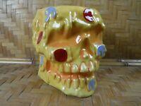 "Munktiki Large Pizza Skull Tiki Mug 36oz 5.5"" Tall by Sketchy Tank Pizza Morte"