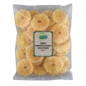 Dried Pineapple Rings Sweetened 1kg