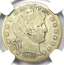 1913-S Barber Quarter 25C - Certified NGC Good Details - Rare Key Date Coin!