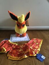 New Build A Bear Pokemon Flareon Plush With Sound Complete Set