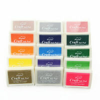 15 Colours Large Rubber Stamps Craft Pigment Ink Pads For Paper Wood Fabric