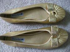 American Eagle GOLDEN  WOMEN'S PARTY DRESS SHOES  Shiny, Ballet Flats, sz 7.5