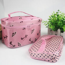 WOMENS Travel Beauty Case MAKEUP Large Organizer Cosmetic Toiletry Holder Bag