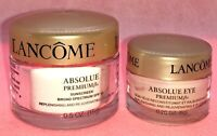 LANCOME 2 PC SET ABSOLUE Premium BX Day Cream .5 oz SPF 15 EYE Cream .2 oz *NEW*