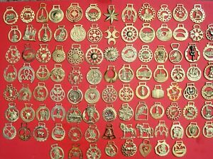 VINTAGE COLLECTABLE HORSE BRASS - 100 TO CHOOSE FROM ALL WITH PHOTO'S  LOT BB